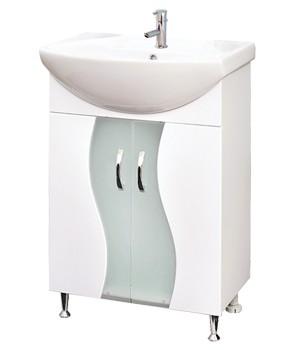 Долен шкаф за баня от PVC със мивка.