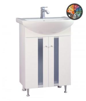 Долен шкаф за баня от PVC със стилен дизайн. - Мебели за баня обзавеждане за бани от PVC , шкафчета, огледала, полици